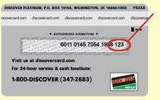 Dicover CVV Code